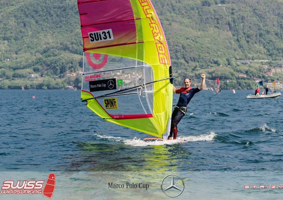 Richard Stauffacher, 1er en windsurf Formula de la Marco Polo Cup sur le lac de Côme