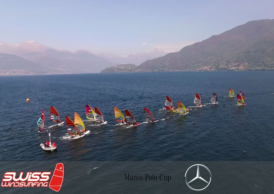 Heidi Ulrich, 1er en windsurf Slalom de la Marco Polo Cup sur le lac de Côme