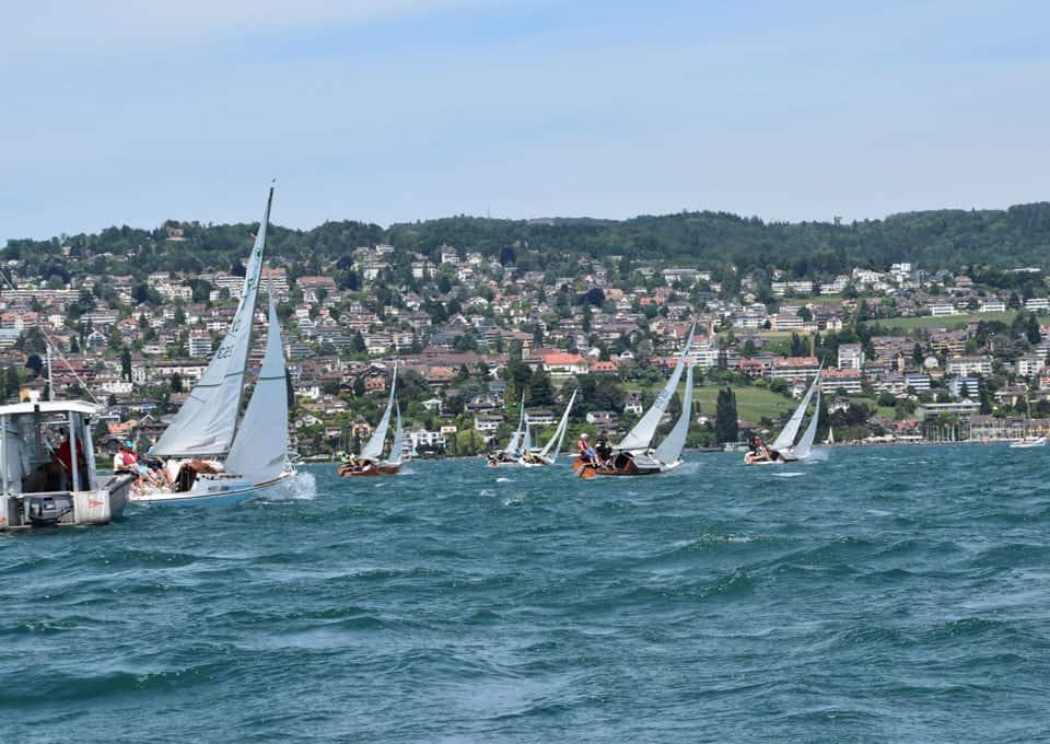Martin Steiger/Hans Von Moos , champions de Suisse de Corsaire à Pully