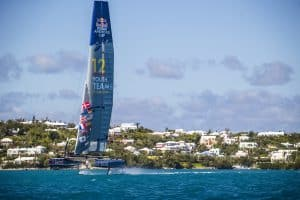 Red Bull Youth America's Cup boat in action at Bermuda, on 02 February 2017.