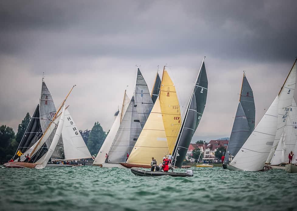 Championnat du monde des 8 m JI sur le lac de Constance : régater comme des rois